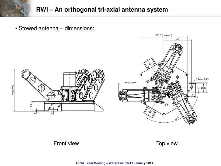 RWI – An orthogonal tri-axial antenna system