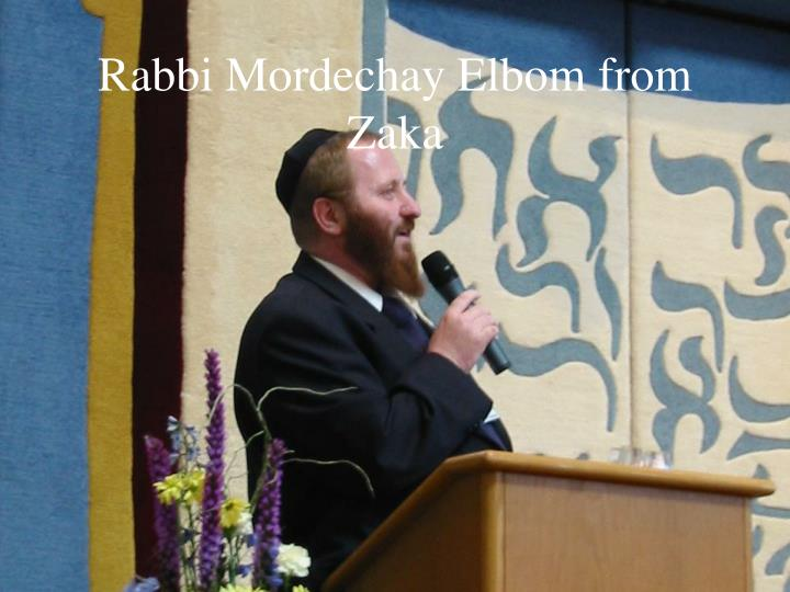 Rabbi Mordechay Elbom from Zaka