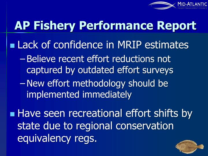 AP Fishery Performance Report