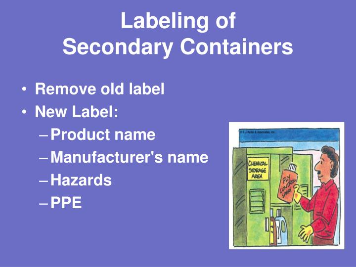 Labeling of
