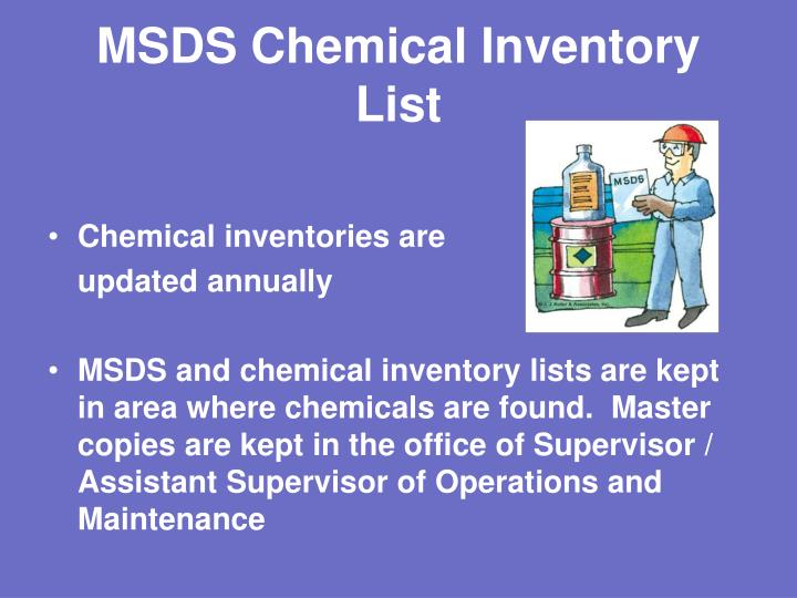 MSDS Chemical Inventory List