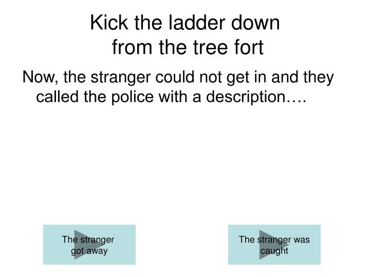 Kick the ladder down