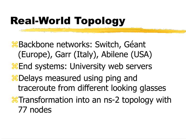 Real-World Topology