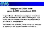 inspe es no estado de sp agosto de 2003 a setembro de 20042