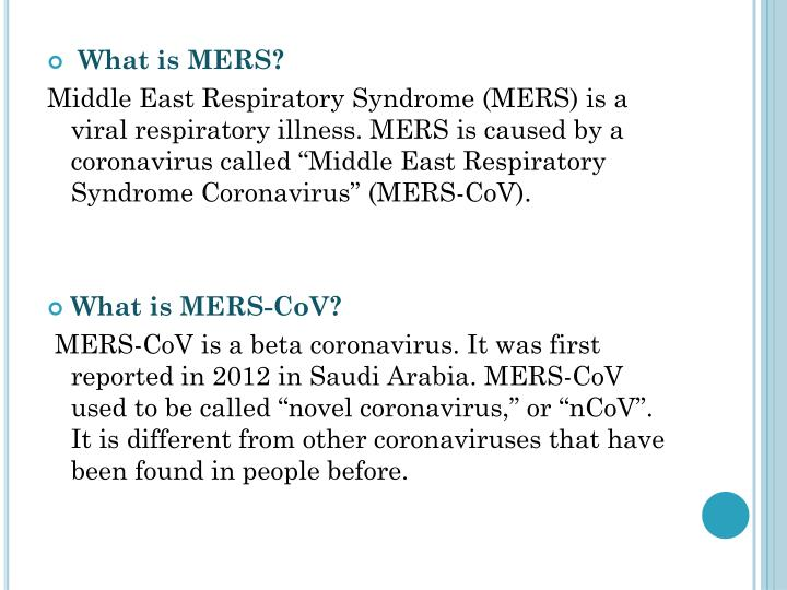 What is MERS?