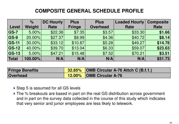 COMPOSITE GENERAL SCHEDULE PROFILE