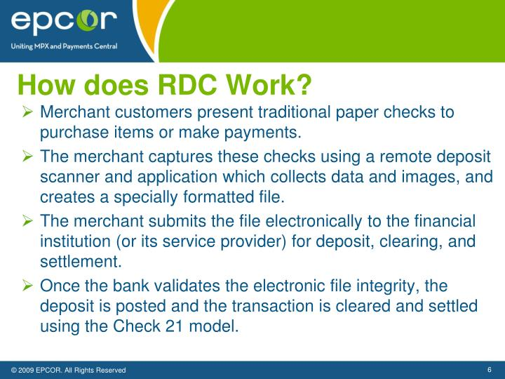How does RDC Work?