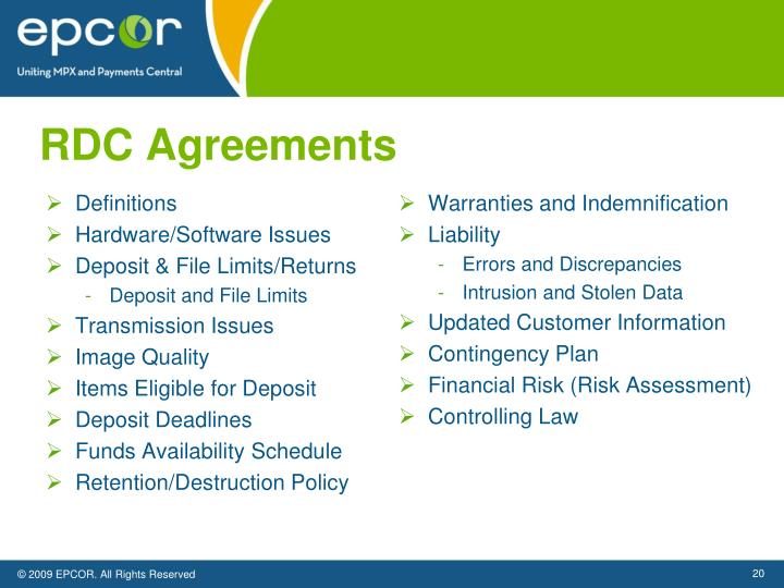 RDC Agreements