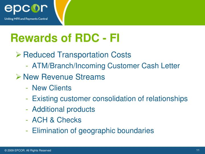 Rewards of RDC - FI