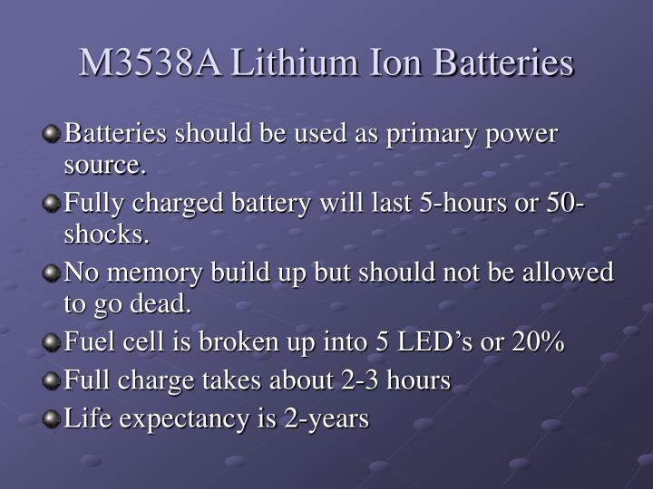 M3538A Lithium Ion Batteries