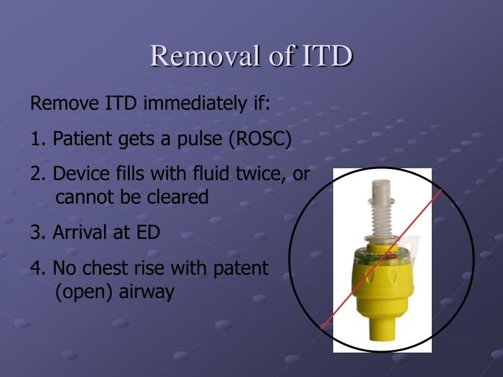 Removal of ITD