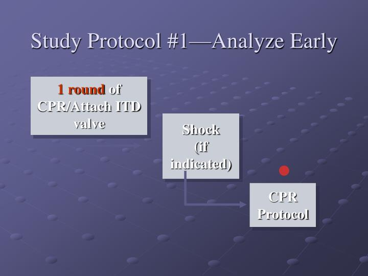 Study Protocol #1—Analyze Early