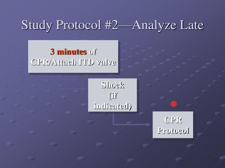 Study Protocol #2—Analyze Late