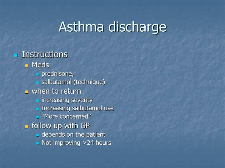 Asthma discharge