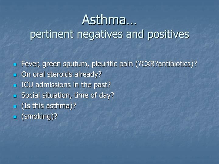 Asthma…