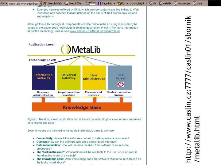 http://www.caslin.cz:7777/caslin01/sbornik/metalib.html