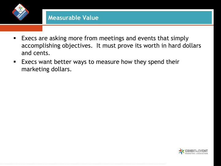 Measurable value