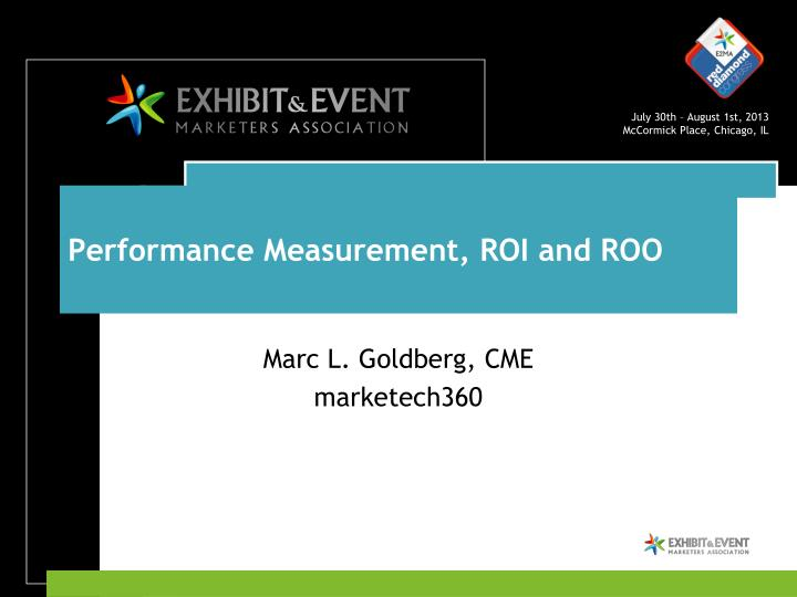 Performance measurement roi and roo
