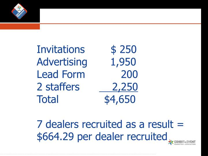 Recruiting Dealers/Distributors