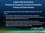 cyber risk protection privacy computer security protection privacy data breach
