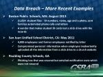 data breach more recent examples