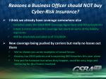 reasons a business officer should not buy cyber risk insurance2