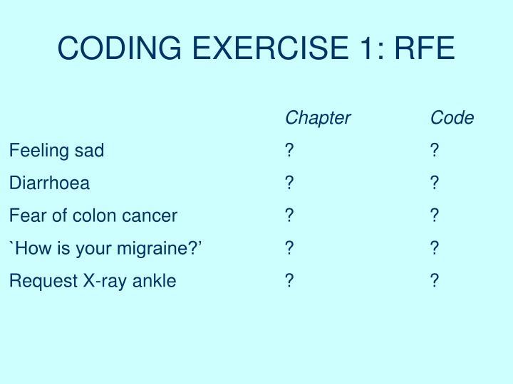 CODING EXERCISE 1: RFE