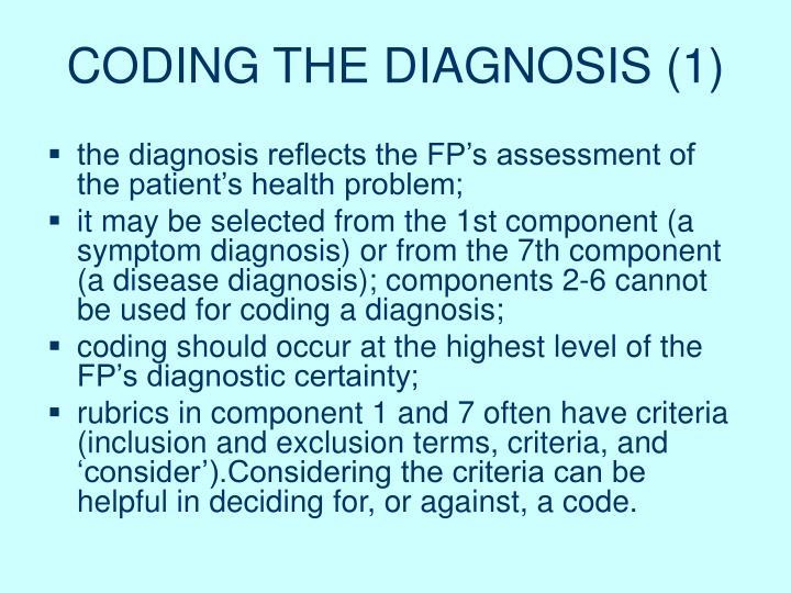 CODING THE DIAGNOSIS (1)