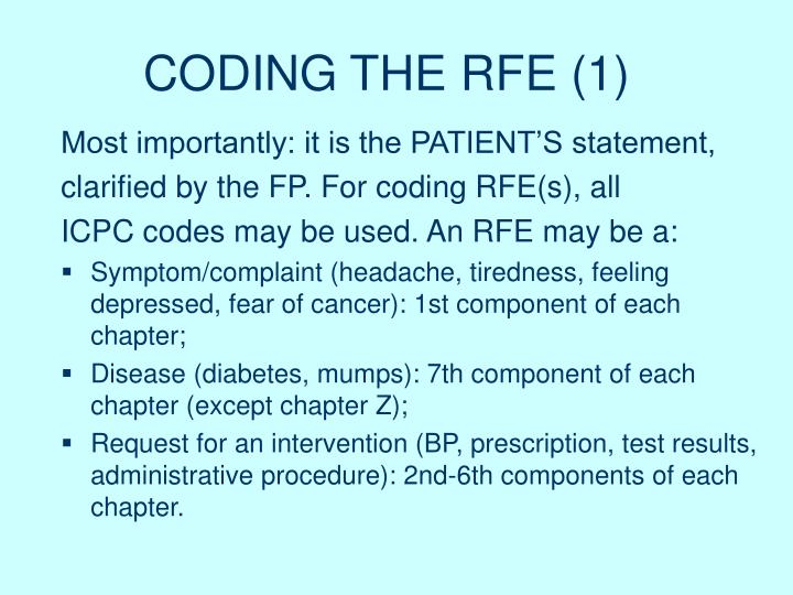 CODING THE RFE (1)
