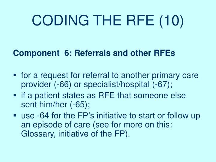 CODING THE RFE (10)