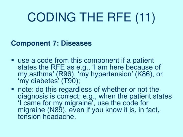 CODING THE RFE (11)