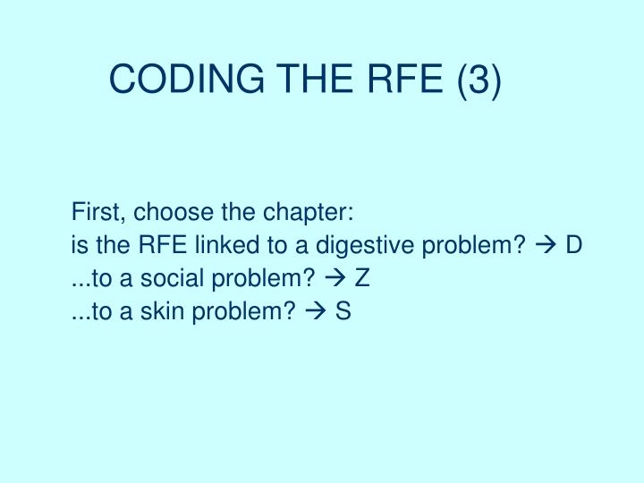 CODING THE RFE (3)