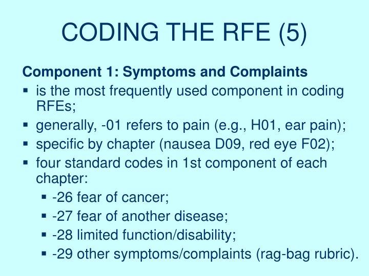 CODING THE RFE (5)