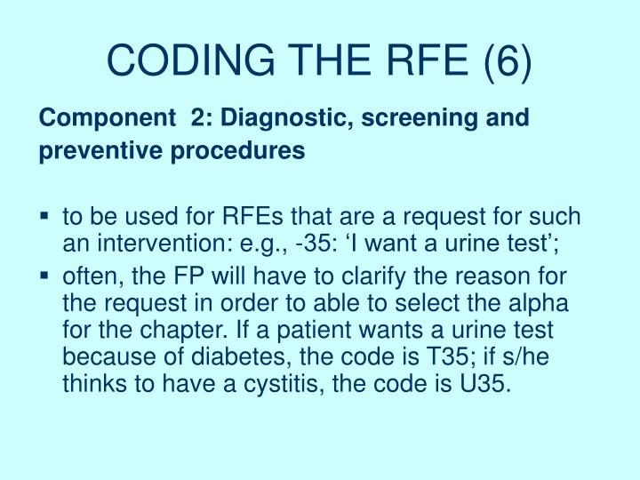 CODING THE RFE (6)