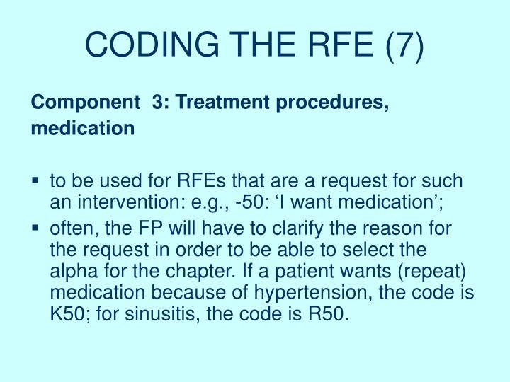 CODING THE RFE (7)