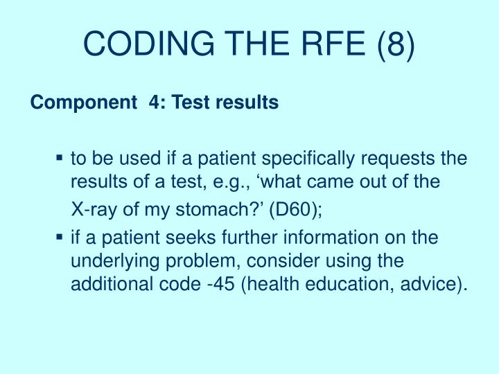 CODING THE RFE (8)