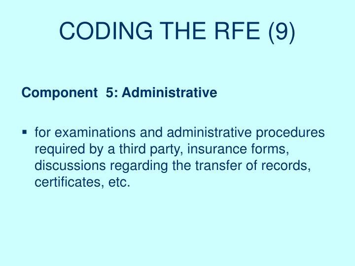 CODING THE RFE (9)