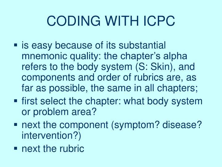 CODING WITH ICPC