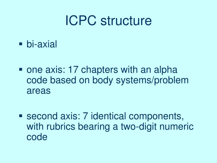 ICPC structure
