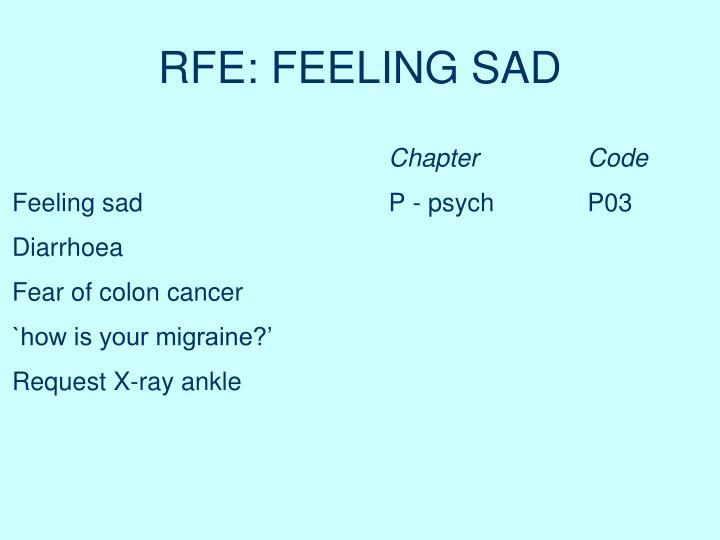 RFE: FEELING SAD