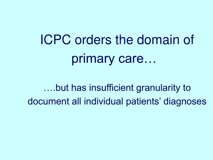 ICPC orders the domain of