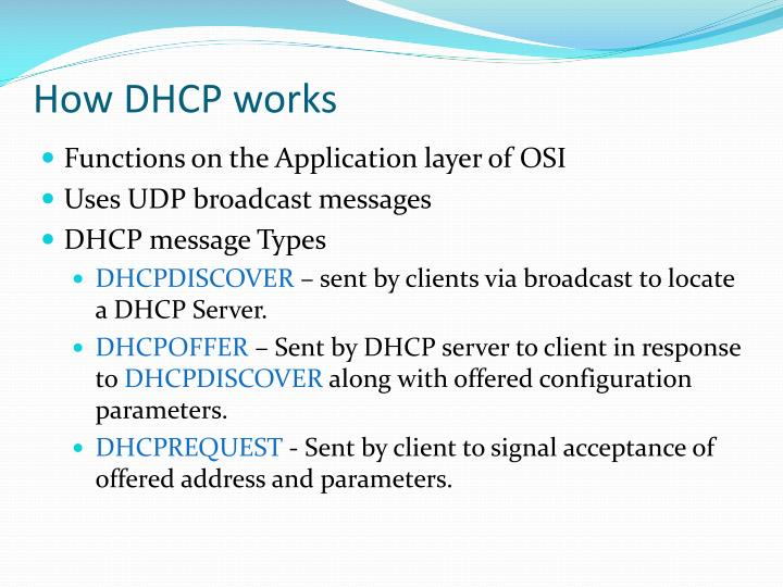 How DHCP works