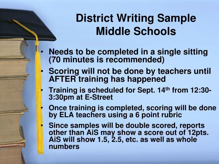 District Writing Sample