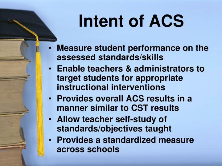 Intent of ACS