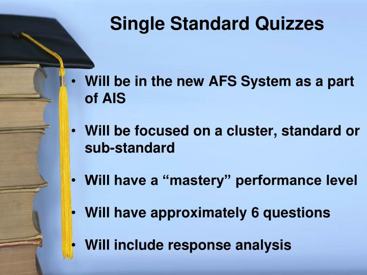 Single Standard Quizzes