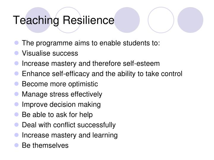 Teaching Resilience