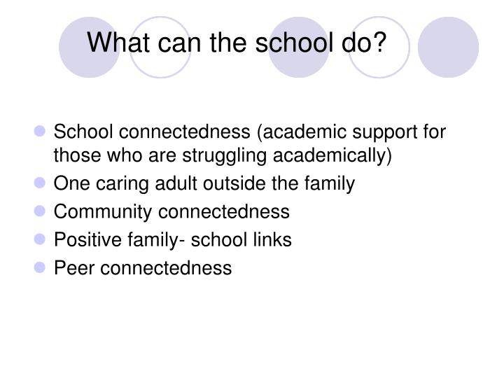 What can the school do?
