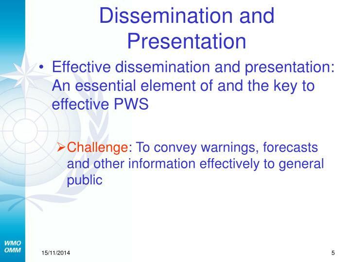 Dissemination and Presentation