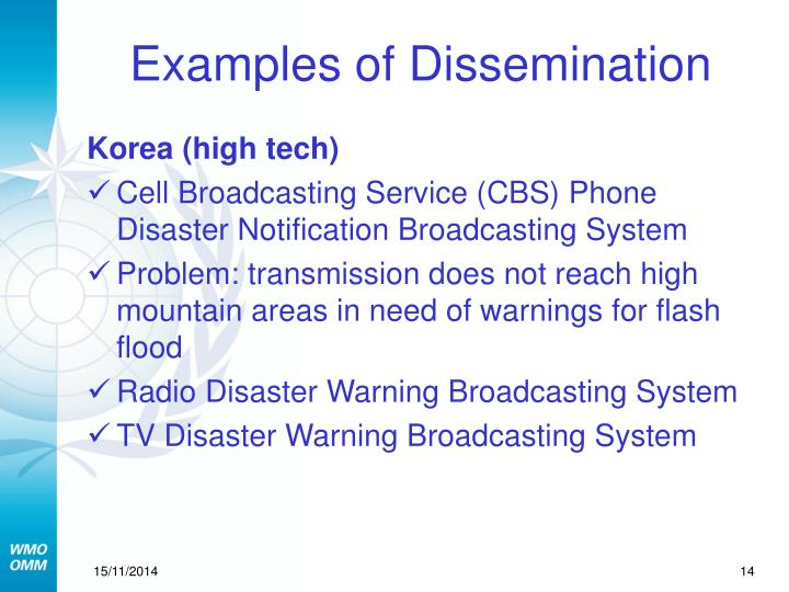 Examples of Dissemination