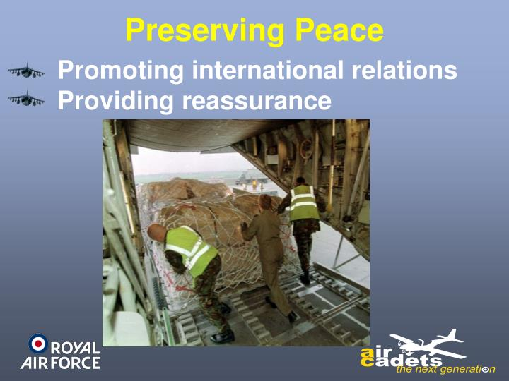Preserving Peace
